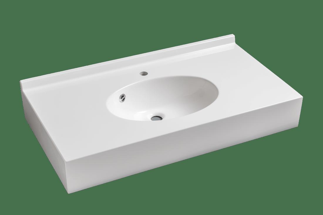Colibri 55 simple vasque composanit for Hauteur paillasse cuisine