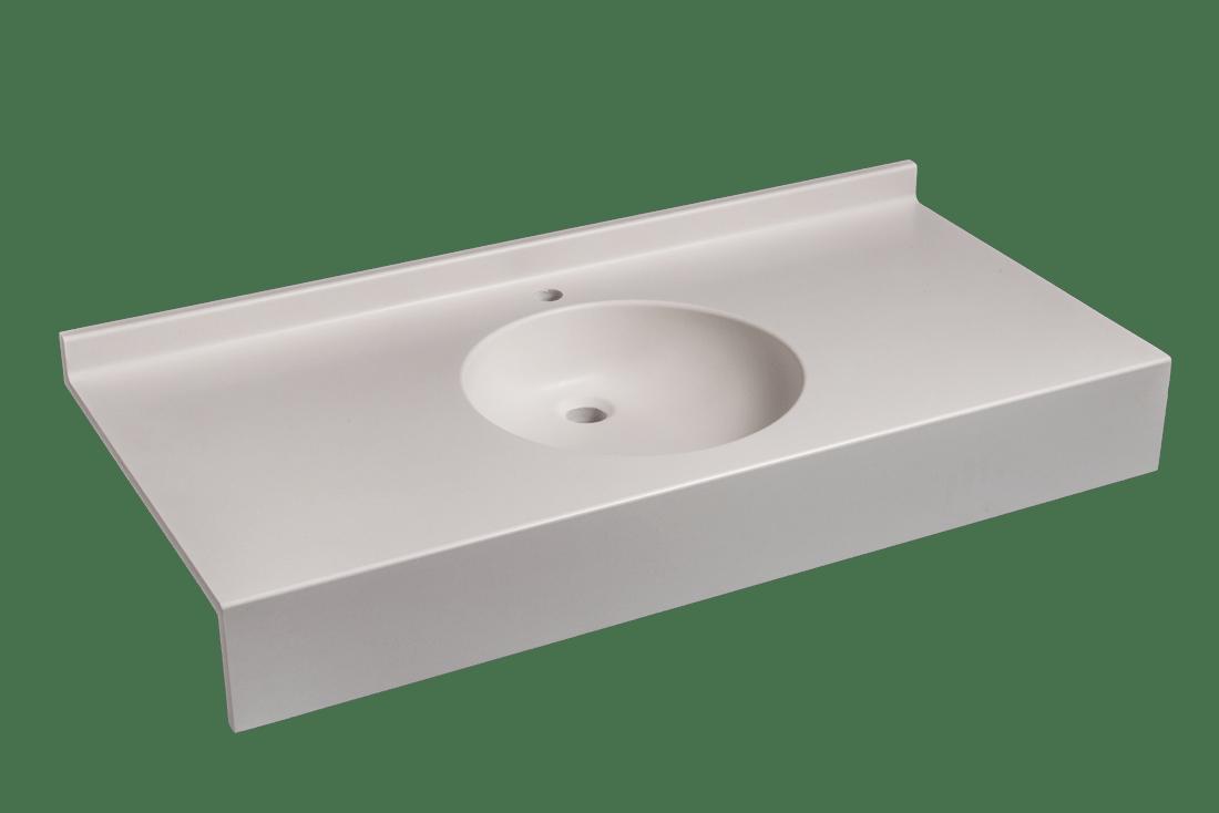 Rondade 53 simple vasque composanit for Hauteur paillasse cuisine
